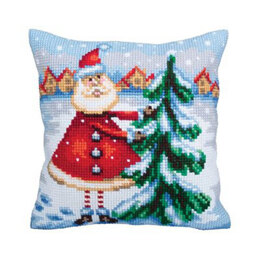Collection D'Art Santa in Lapaland Cross Stitch Cushion Kit - Multi