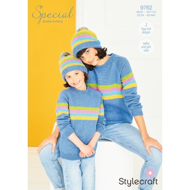 Sweater and Hat in Stylecraft Special DK - 9762 - Downloadable PDF