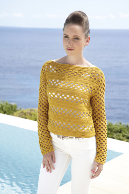 Crochet Summer Long sleeve tops in Sirdar Cotton DK - 7075