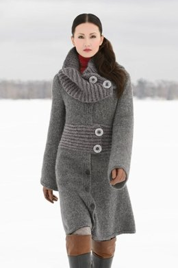 Moscow Coat in Blue Sky Fibers Techno and Bulky