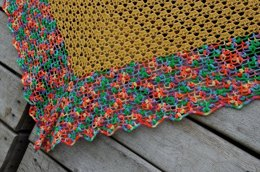 Baskets full of flowers shawl