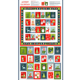 Makower UK Joy Advent Calendar Panel - 2261-1