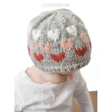 Ombre Heart Hat Knitting pattern by Cassandra May eefeabe4685