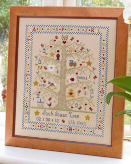 Historical Sampler Company Tree A-Z Birth Sampler, Boy Cross Stitch Kit