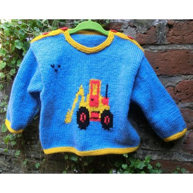 Baby's Sweater with Digger Motif