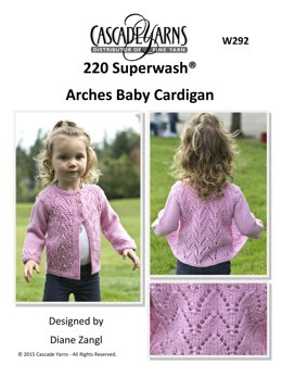 Arches Baby Cardigan in Cascade 220 Superwash Quatro - W292