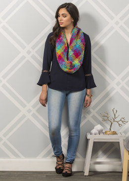 Highland Fling Cowl in Premier Yarns Everyday Plaid - Downloadable PDF