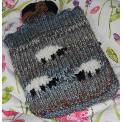 Sheep Hotwater Bottle Cover Knitting Pattern By Monica Russel