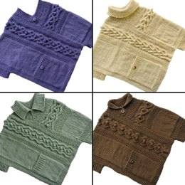 Cable & Pocket Poncho - S/M Sizes