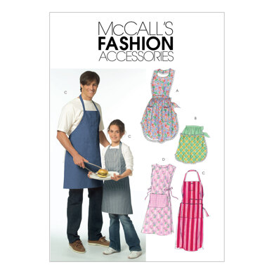 McCall's Misses'/Men's/Children's/Boys'/Girls' Aprons M5551 - Paper Pattern Size All Sizes In One E