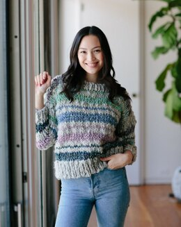 Saturday Sweater in Knit Collage Spun Cloud - Downloadable PDF