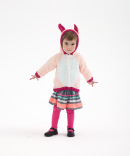 Bunny Hoodie in Lion Brand Vanna's Choice - L32356
