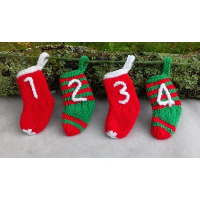 Mini Stocking Advent Calendar Knitting Pattern By Needles Pins