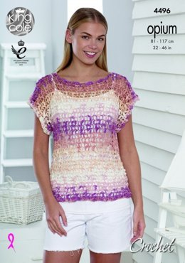 Mesh T-Shirt and Cardigan in King Cole Opium Palette - 4496