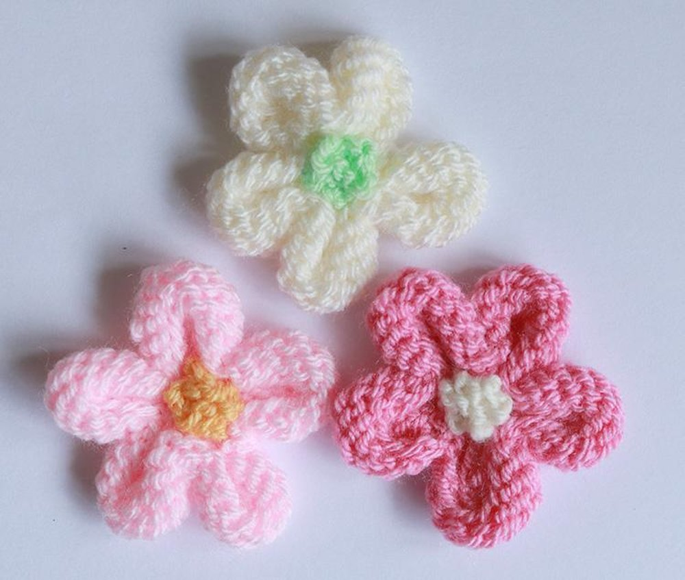 Knitted Flower Tutorial Knitting Pattern By Julie Taylor