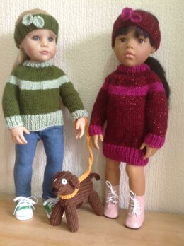 Dolls dress and puppy dog