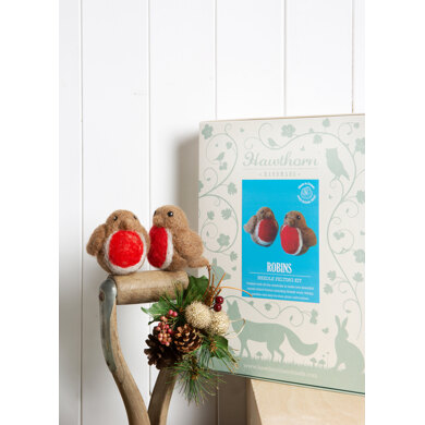 Hawthorn Handmade Robins Needle Felting Kit (pair)