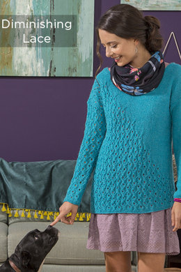 Diminishing Lace Sweater in Universal Yarn Finn - Downloadable PDF