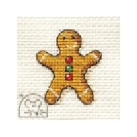 Mouseloft Make Me for Christmas - Gingerbread Man Cross Stitch Kit - 64mm