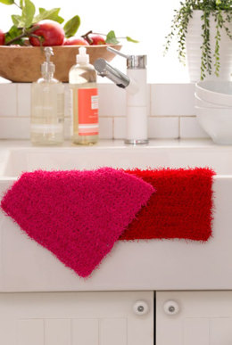 Simple Crochet Dishcloth in Red Heart Scrubby - LW4794 - Downloadable PDF