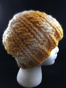 Cabled Messy Bun/Ponytail Hat