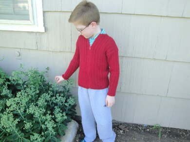 Boys Ribbed Cardigan