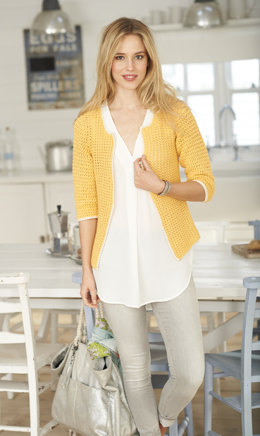 Tee & Cardigan in Stylecraft  Classique Cotton 4 Ply - 9373