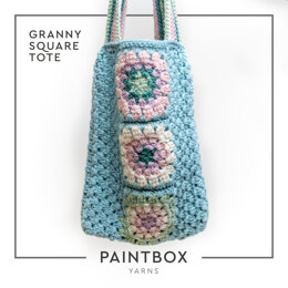 Granny Square Tote in Paintbox Yarns 100% Wool Worsted - Downloadable PDF