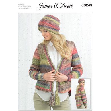 Hat and Jacket in James C. Brett Marble Chunky - JB245