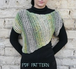 Adult Asymmetrical Crochet Sweater