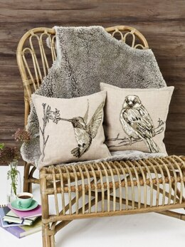 Permin Hummingbird Cushion Cross Stitch Kit - 40cm x 40cm
