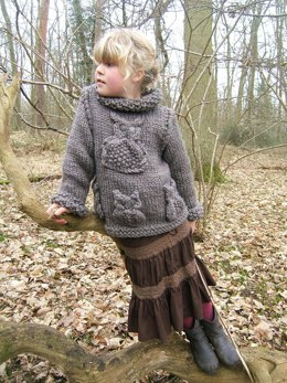 Child/Adult Brown Owl Sweater