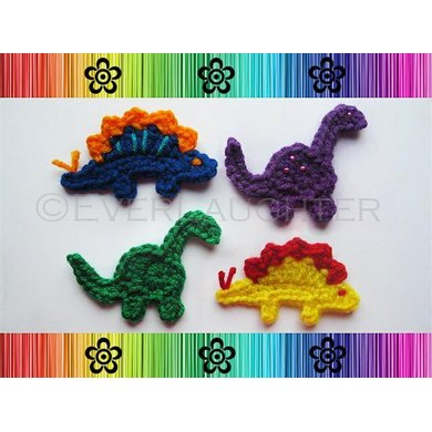 Bronto and Steggy the Dino-Rawrs Applique