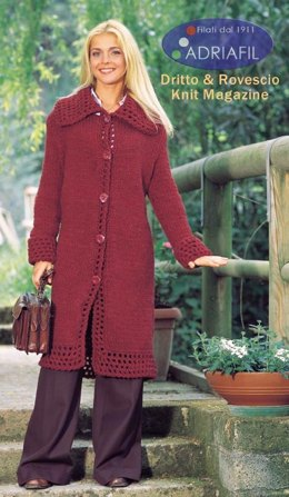 Ribes Coat in Adriafil Candy - Downloadable PDF