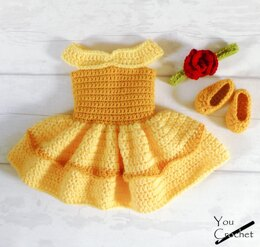 Beauty and the Beast Belle Dress Set