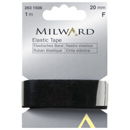 Milward Elastic Tape: 1m x 20mm: Black