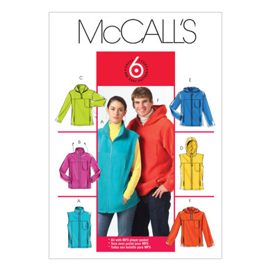 McCall's Misses'/Men's Unlined Vest and Jackets M5252 - Sewing Pattern