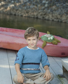 Little Sailor Pullover in Universal Yarn Cotton Supreme