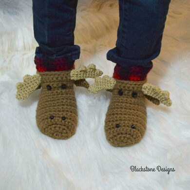 Moose Slippers - Child