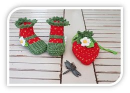 Strawberry Bootie and Pouch Bag