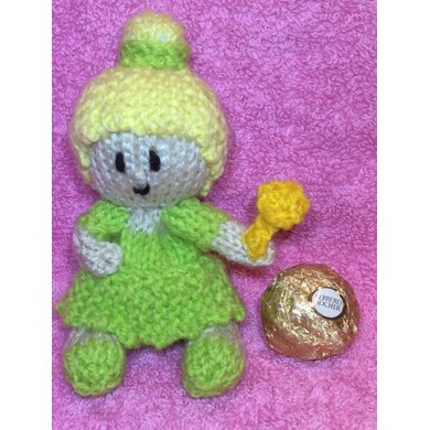 Tinkerbell Ferrero Choc Cover Knitting Pattern By Andrew Lucas