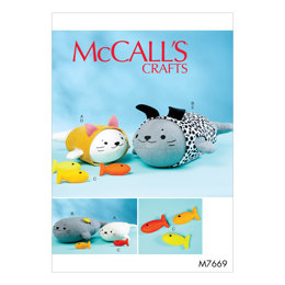 McCall's Soft Toys Cat and Dog Outfits M7669 - Sewing Pattern