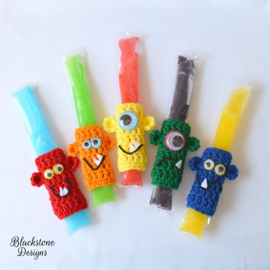 Monster Ice Pop Koozies Crochet pattern by Sonya