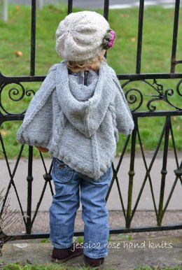 Baby 'Cabled Poncho'