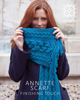 Annette Scarf in MillaMia Naturally Soft Aran - Downloadable PDF