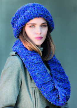 Hat and Cowl 2 in Robin Firecracker Super Chunky - Downloadable PDF