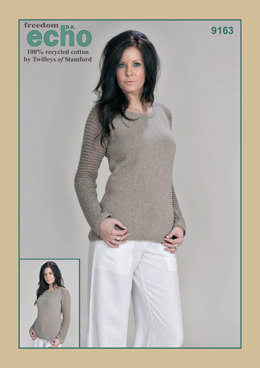 Mesh Sleeve Sweater in Twilleys Freedom Echo DK - 9163