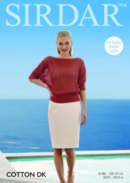 Top in Sirdar Cotton DK - 7916 - Downloadable PDF