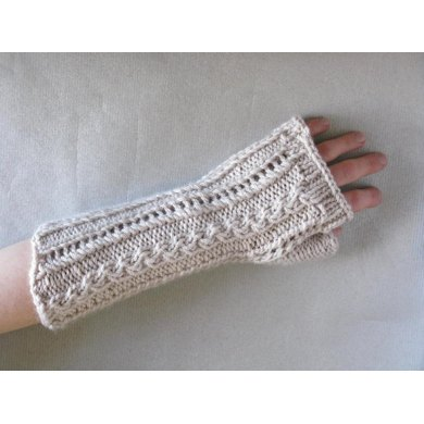Lace and Cable Mitts