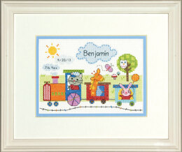 Dimensions Train Birth Record Cross Stitch Kit - 18cm x 13cm